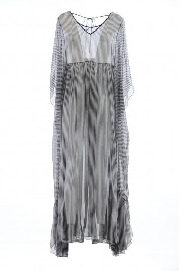 Dolce & Gabbana Women Silk Stripes Long Dress - I640HW HS1OR