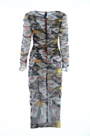 Dolce & Gabbana Vestido Medio Ajustado Mujer - F68G9T FS579