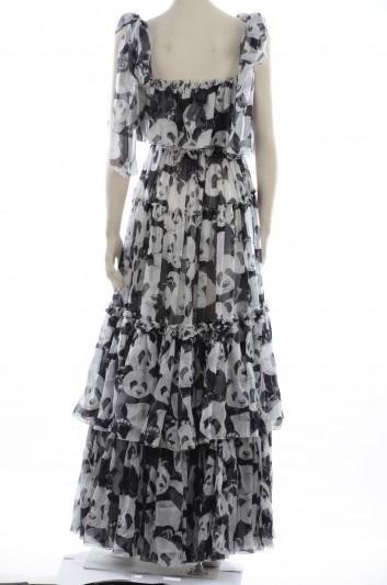 Dolce & Gabbana Vestido Largo Seda con Volantes Mujer - F6C9BT HS11N