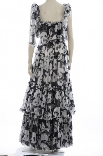 Dolce & Gabbana Women Ruffle Long Dress - F6C9BT HS11N