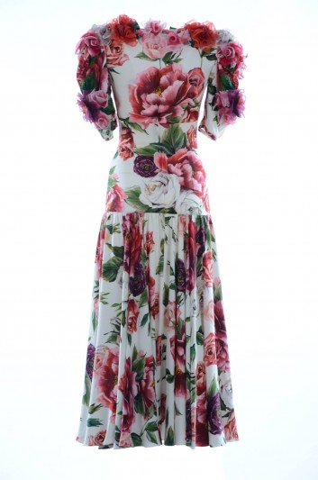 Dolce & Gabbana Vestido Medio Seda Floral Mujer - F6A0YZ GDJ21