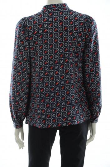 Dolce & Gabbana Blusa Estampado Marinero Mujer - F5D12T TS1DE
