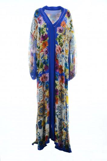 Dolce & Gabbana Vestido Largo Seda Maiolica Mujer - F6A1JT GDJ27