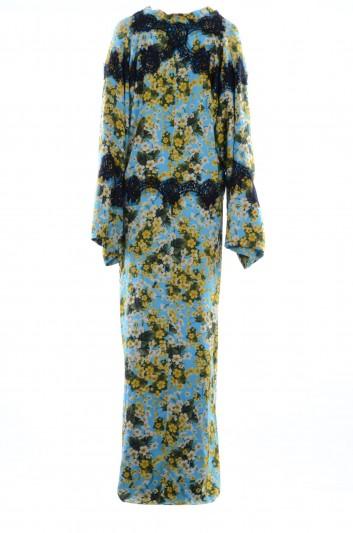 Dolce & Gabbana Vestido Largo Seda Floral Encaje Mujer - F6A9FT FSAVH