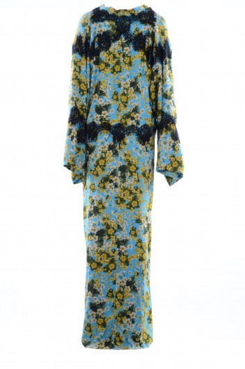 Dolce & Gabbana Women Silk Floral Lace Long Dress - F6A9FT FSAVH