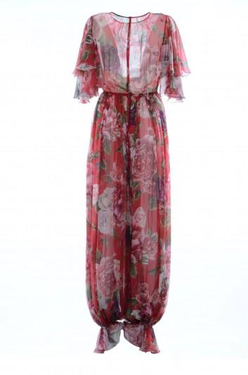 Dolce & Gabbana Women Silk Floral Jumpsuit - F6A0KT GDJ18