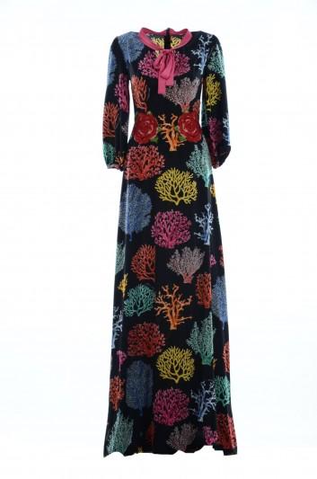 Dolce & Gabbana Women Coral Silk Long Dress - F68J3Z FSAUI