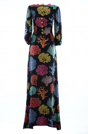 Dolce & Gabbana Vestido Largo Coral Seda Mujer - F68J3Z FSAUI