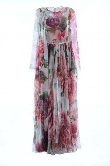 Dolce & Gabbana Vestido Largo Floral Seda Mujer - F69U1Z GDJ18