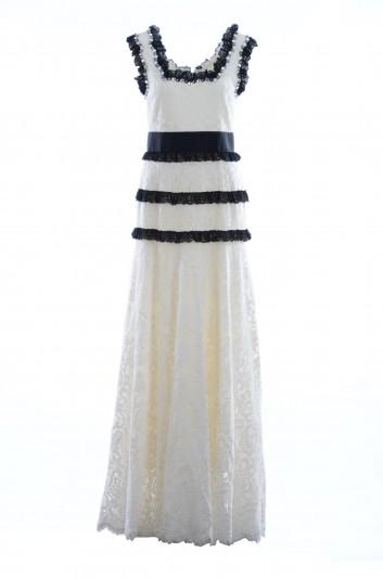 Dolce & Gabbana Women Long Lace Jewel Dress - I6B83Z GD48P