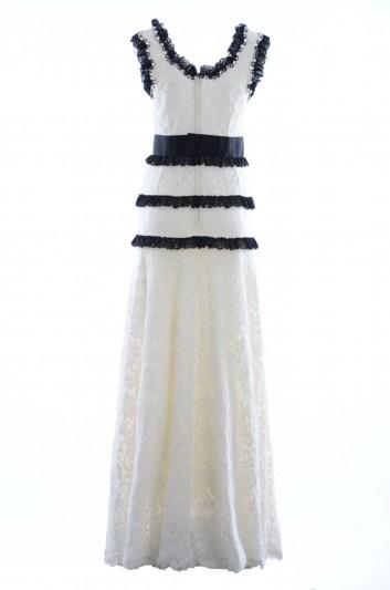 Dolce & Gabbana Vestido Largo Encaje Joya Mujer - I6B83Z GD48P