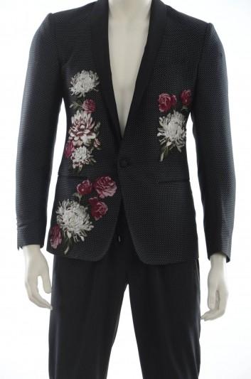 Dolce & Gabbana Americana 1 Botón Flores Hombre - G2JP7Z GEG85