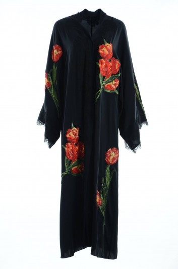 Dolce & Gabbana Women Embroidered Flowers Abaya - F6WD4Z FUABF