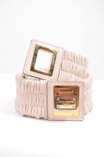 Dolce & Gabbana Cinturón Banda Placa Mujer - BE0992 A1121