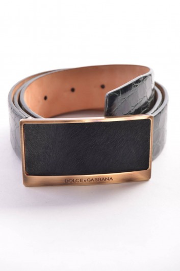 Dolce & Gabbana Cinturón Logo Mujer - BE0136 A2653