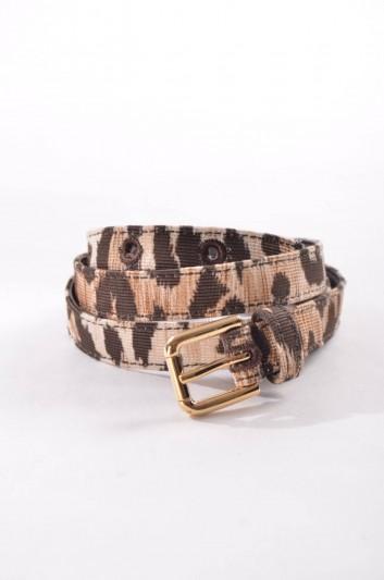 Dolce & Gabbana Cinturón Estampado Leopardo Mujer - BE0903 A4578