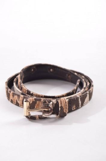 Dolce & Gabbana Cinturón Estampado Leopardo Mujer - BE0974 A4578