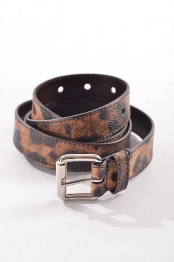 Dolce & Gabbana Cinturón Estampado Leopardo Mujer - BE0797 B9392