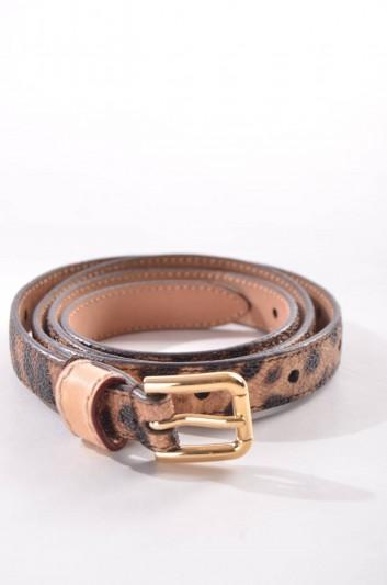 Dolce & Gabbana Cinturón Estampado Leopardo Mujer - BE0970 A4015