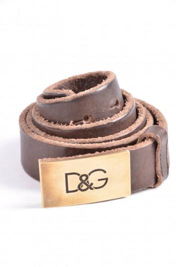 Dolce & Gabbana Cinturón Placa Hombre - BC3659 A1961