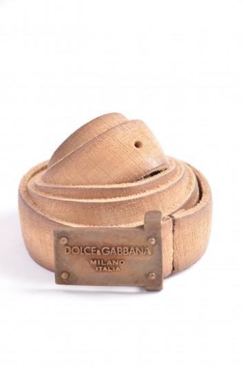 Dolce & Gabbana Cinturón Placa Hombre - BC068D A0022