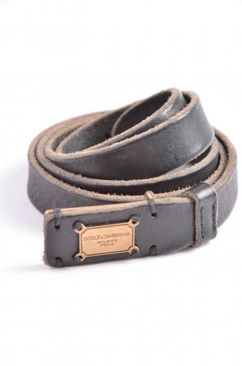 Dolce & Gabbana Cinturón Placa Hombre - BC3753 A1557