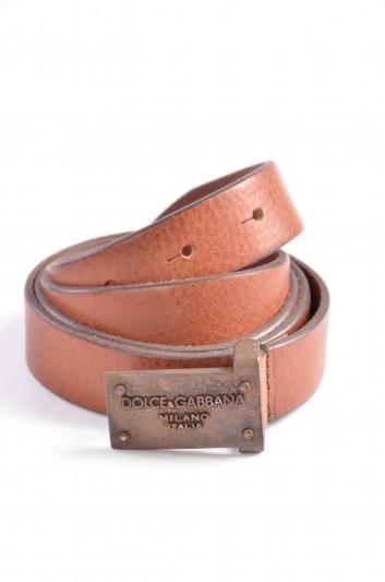 Dolce & Gabbana Cinturón Placa Hombre - BC994C A0022
