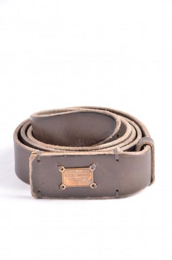 Dolce & Gabbana Cinturón Placa Hombre - BC3754 A1961