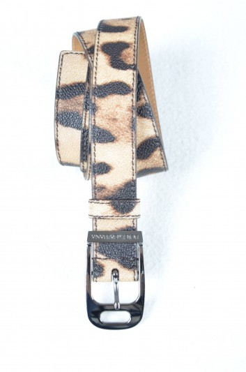 Dolce & Gabbana Women Logo Print Animal Belt - BE1019 B7158