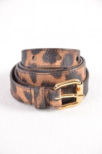 Dolce & Gabbana Cinturón Estampado Leopardo Mujer - BE0929 B9392