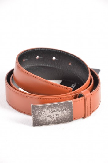 Dolce & Gabbana Cinturón Placa Hombre - BC3615 B6165