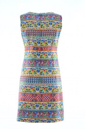 Dolce & Gabbana Vestido Majolica Seda Mujer - F6YW1T HPMEX