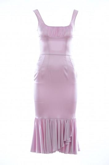 Dolce & Gabbana Vestido Seda Tirantes Mujer - F65E3T FURAG