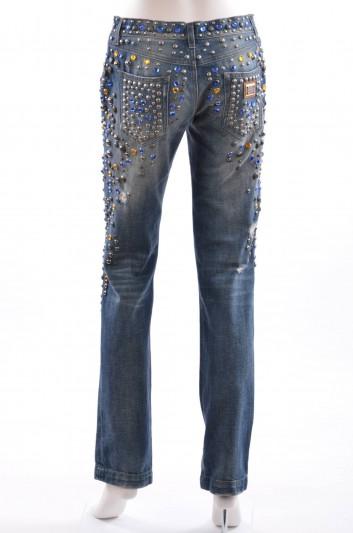Dolce & Gabbana Women Jewel Denim Trouser - FTACGD G875S