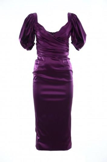 Dolce & Gabbana Vestido Medio Seda Mujer - F6B6GT FURAD