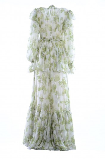 Dolce & Gabbana Vestido Seda Largo Mujer - F6B6AT HS1WG