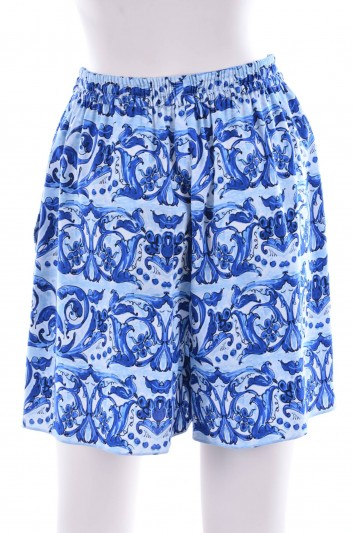 Dolce & Gabbana Women Maiolica Print Short - FT3QXT FPAJI