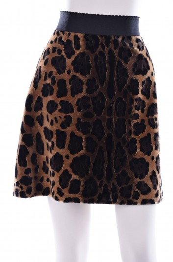 Dolce & Gabbana Women Fur Animal Print Short Skirt - F4ABPZ GD77F