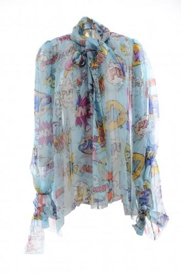 Dolce & Gabbana Women Silk Comic Blouse - F71Y6T HS10A