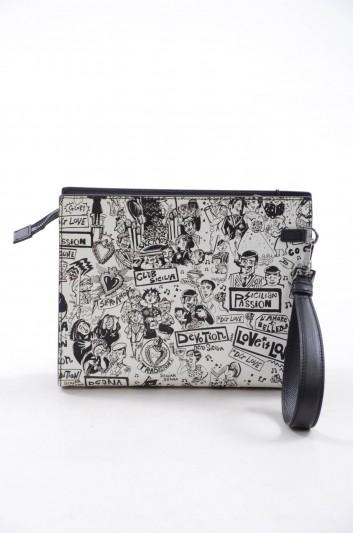 Dolce & Gabbana Men Leather Clutch Bag - BM1657 AI558