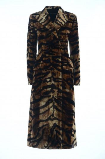 Dolce & Gabbana Abrigo Seda Leopardo Mujer - F0U70Z GD90T