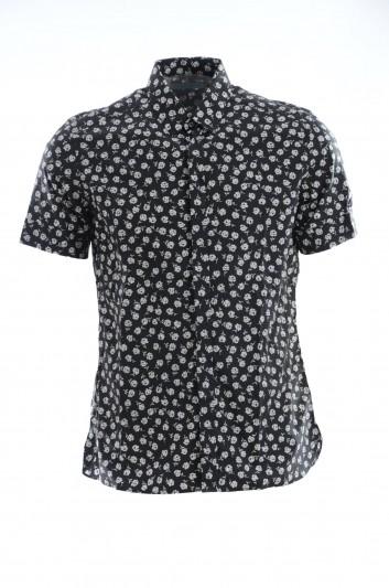 Dolce & Gabbana Camisa  Estampada Manga Corta Hombre - G5EU5T FS5VM