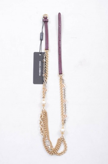 Dolce & Gabbana Cinturón de Piel Joya Mujer - BE1097 A1095