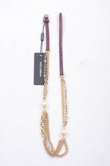 Dolce & Gabbana Women Leather Jewel Belt - BE1097 A1095