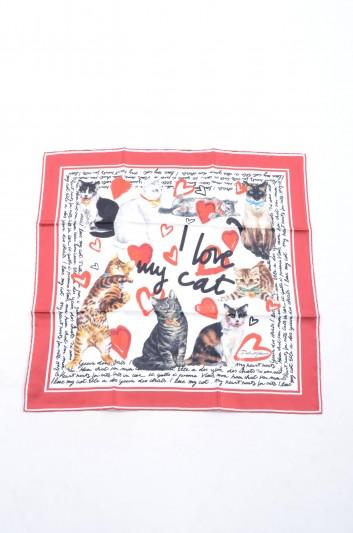 Dolce & Gabbana Foulard Seda Gatos Mujer - FN093R GDH09