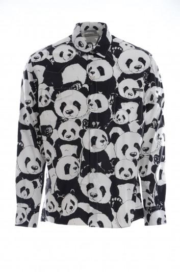 Dolce & Gabbana Camisa Pandas Manga Larga Hombre - G5FY3T HS5CZ