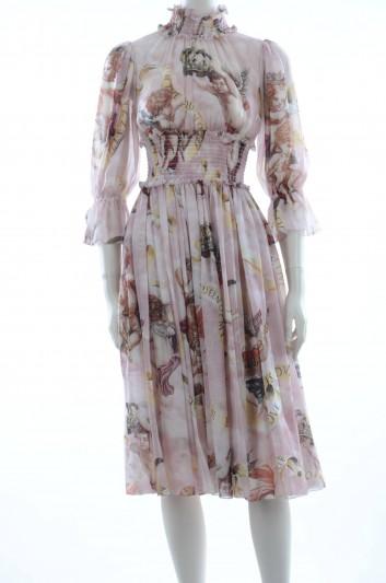 Dolce & Gabbana Women Midi Silk Dress - F6C0HT HS1YX