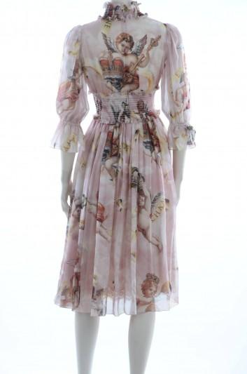 Dolce & Gabbana Vestido Midi Seda Mujer - F6C0HT HS1YX
