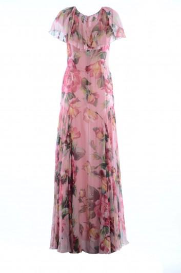 Dolce & Gabbana Women Silk Long Dress - F66D2T HS1NJ