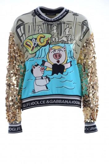 Dolce & Gabbana Sudadera Lentejuelas Mujer - F9E04Z HH7I7